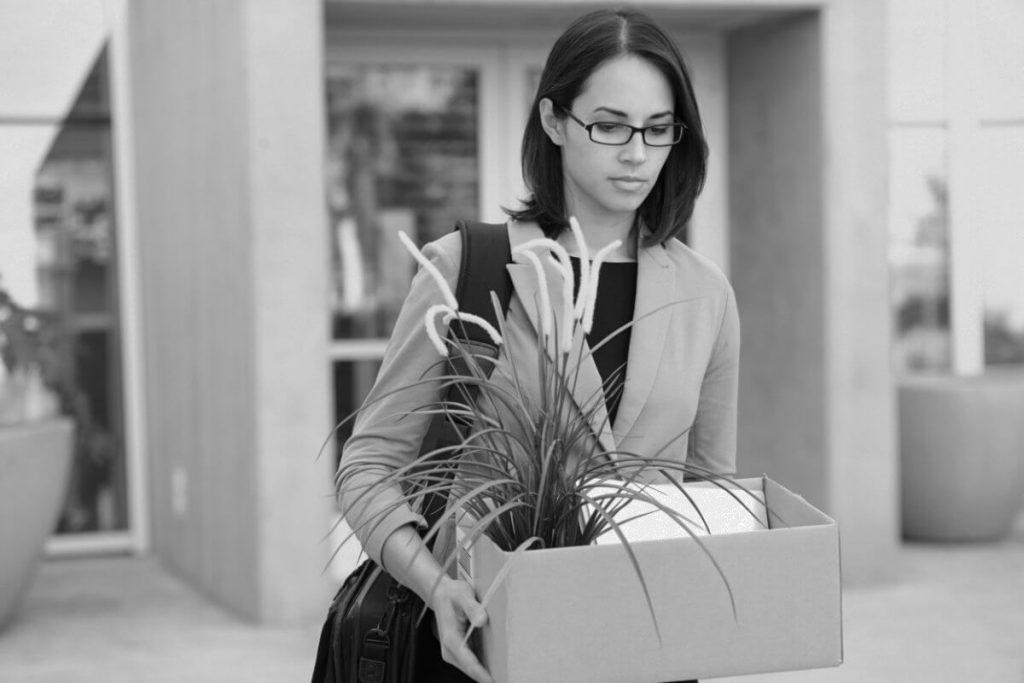 Redundancy - Woman Leaving Work
